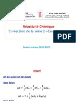 Correction de La Serie 2 -Réactivité Chimique-Exercices 1-5-37d21fa0cdd88ae435cead2cd198ef15