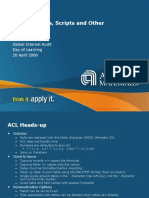 ACL Functions, Scripts and Other Cool Stuff