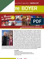 Notre Projet Pour Le Canton - Pierre Boyer