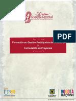 4.Formacion en Gestion Participativa de La Cultura y Formulacion de Proyectos
