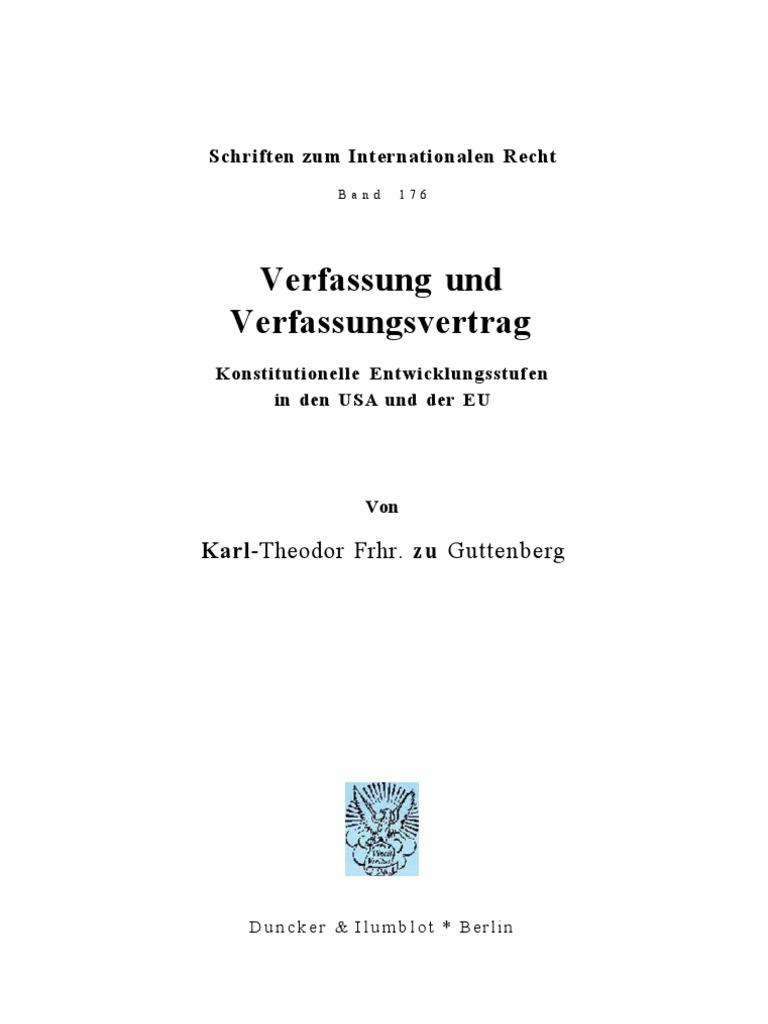 Karl-Theodor Frhr. zu Guttenberg - Verfassung und Verfassungsvertrag ...