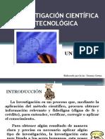 LA INV. CIENTFICA Y TECNOLGICA UI