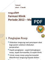 Presentasi Laporan Pelayanan Farmasi 2012-2013