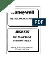 King KX155A165A Installation Manual