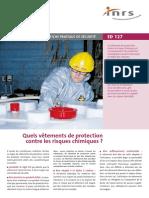 ed127 - Vetements contre risque chimique