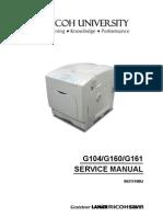 Manual Service G160 Gestetner 7526dn