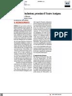 Disabilità e inclusione, premiato il Teatro Aenigma - Il Corriere Adriatico del 21 marzo 2021