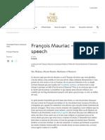 François Mauriac - Facts - NobelPrize.org