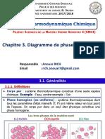 Cours thermo_Chapitre 3_Diagramme de phase du corps pur_2018