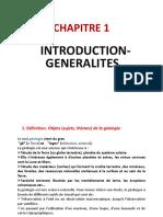 Introduction à la géologie