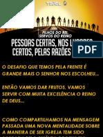 TADEL - SERIE FILHOS DO REI, SERVOS DO REINO 02 - PESSOAS CERTAS, NOS LUGARES CERTOS, PELAS RAZÕES CERTAS