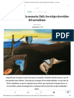 La persistencia de la memoria_ Dalí y los relojes derretidos del surrealismo - La Tercera