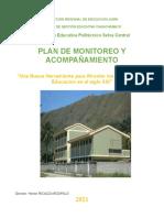 I.PLAN DE MONITOREO Y ACOMPAÑAMIENTO INSTITUCIONAL - 2021