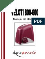 Manual porton automático veloti