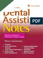 Dental Assisting Notes Dental Assistant's Chairside Pocket Guide