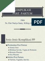 Komplikasi Post Partum