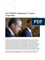 President Barack Obama and President Felipe Calderon - FACT SHEET- Enhancing U.S.-Mexico Cooperation