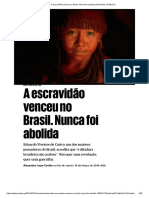 A escravidão venceu no Brasil. Nunca foi abolida _ Entrevista à Eduardo Viveiros de Castro