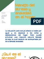 Capsula N°3´´ Practicas manejo del stress en el hogar´´