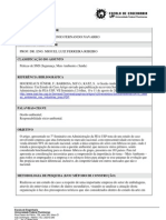 A Gestão Ambiental nas Indústrias Brasileiras - Um estudo de caso