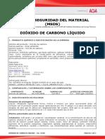 MSDS extintor Dióxido de Carbono