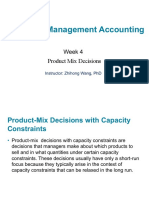Week 4_Product Mix Decisions