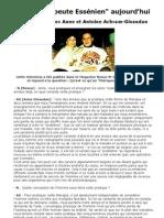 Nexus 15 - Etre thérapeute Essénien aujourd'hui - Interview avec Anne et Antoine Achram-Givaudan juillet 2001