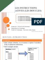 0006- Les instructions Itératives (Boucles) - Pour - Tantque - Répéter