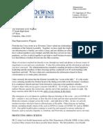 DeWine's letter to Wiggam on SB22
