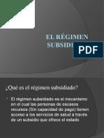 Presentación Régimen Subsidiado