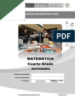 Matematic4 Evaluacion Diagnóstica Area Matemática Ccesa007