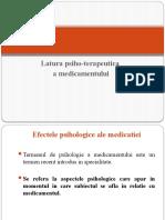 Efectele psihologice alemedicatiei