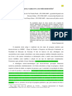 Prado; Soligo e Simas 2014 - Pesquisa Narrativa Em Três Dimensões