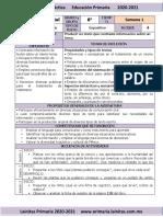 Marzo - 6to Grado Español (2020-2021)