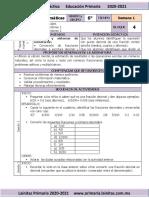 Marzo - 6to Grado Matemáticas (2020-2021)