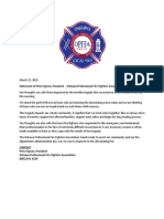 Oshawa Fire Fighters Statement March, 22 2021