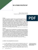 Caltelss, Manuel Borja, Jordi. as Cidades Como Atores Políticos