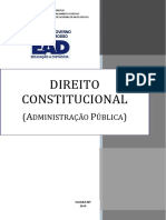 APOSTILA CURSO DIREITO CONSTITUCIONAL (ADMINISTRAÇÃO PÚBLICA)