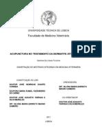 Acupunctura No Tratamento Da Dermatite Atopica Canina