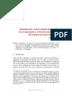 Globalización y universalidad del derecho
