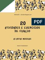 As Notas Musicais!