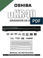 Toshiba DKR 40 - Manual gravador de dvd