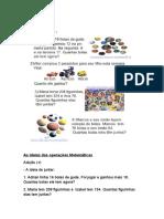 As ideias das operações Matemática1