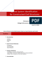 Applied System Identification for Constructed Civil Structures