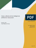 Usos y Efectos de La Inteligencia Artificial en Educacion
