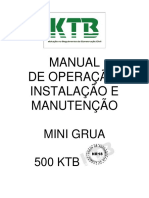 MANUAL TÉCNICO - MINI GRUA KTB