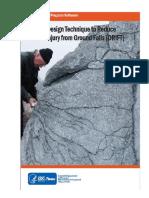 Una técnica de diseño de explosiones para reducir el riesgo de lesiones por caídas de tierra