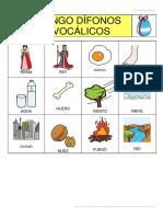 Bingo de Dífonos Vocalicos
