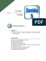 Sesión 5 Tablas dinámicas EXCEL