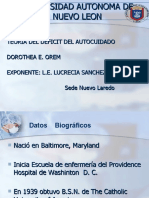 TEORIA DEL DEFICIT DEL AUTOCUIDADO Orem
